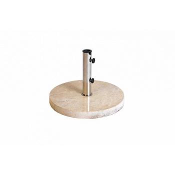 Kulatý stojan pro slunečníky do 3 m, leštěný mramor, 25 kg