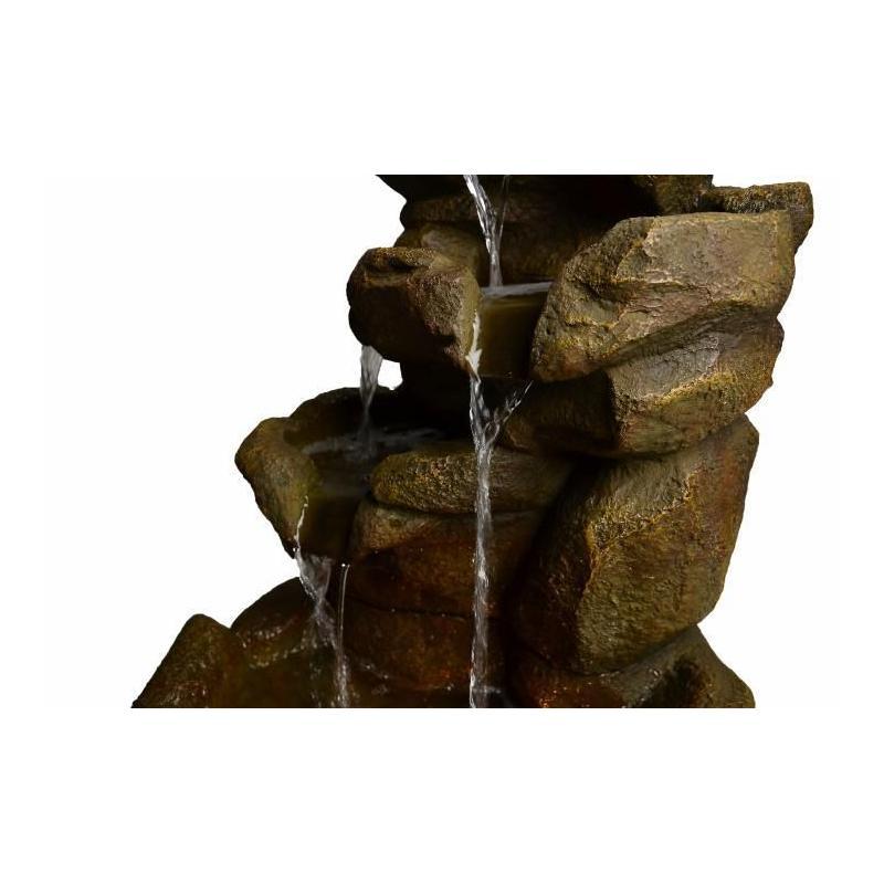 Zahradní Dekorace Kamenný Vodopád S Tekoucí Vodou 69 Cm