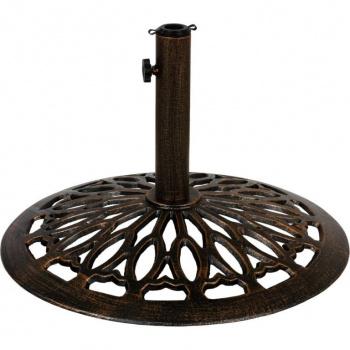 Ozdobný litinový stojan pro slunečníky do 3 m, 15 kg