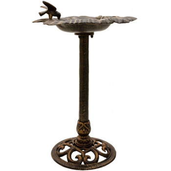 Dekorativní zahradní napajedlo pro ptáky, kovové, 80 cm