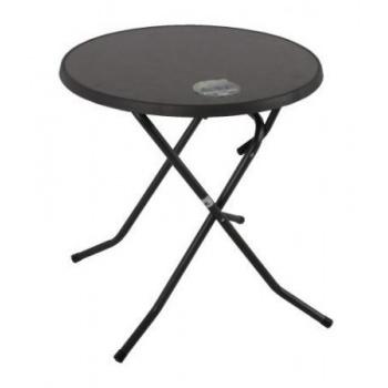 Skládací gastro stolek kovový, průměr 70 cm