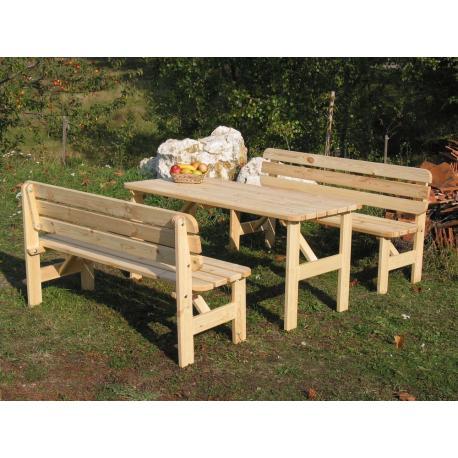 0fff3dd527 Skladem Venkovní lavice z masivního dřeva 150 cm