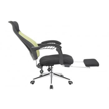 Otočná kancelářská židle s výsuvnou podložkou pod nohy