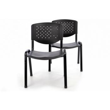 2 ks stohovatelná židle černá, kanceláře / čekárny / školy
