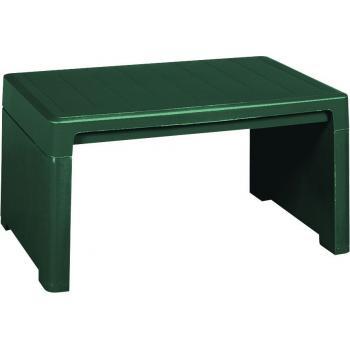 Malý plastový stolek k lehátku, zelený