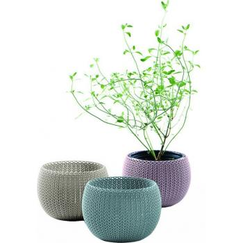 3 ks ozdobný květináč ve tvaru koule, 3 různé barvy