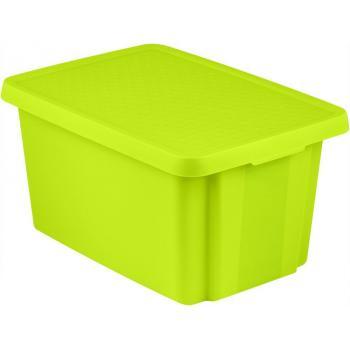 Velká úložná plastová bedna s víkem, zelená, 45 l