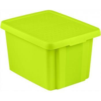 Středně velký úložný plastový box s víkem 26 l, zelený