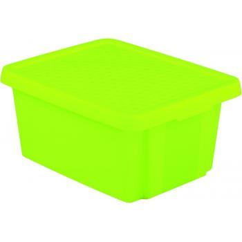 Středně velký úložný plastový box s víkem 20 l, zelený