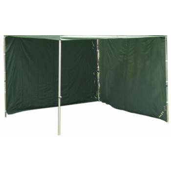 2 ks boční stěna pro PROFI zahradní stany, bez oken, zelená