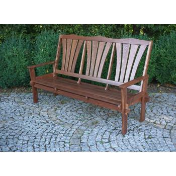 Masivní dřevěná zahradní lavice, impregnované + lakované dřevo