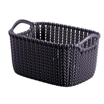 Okrasný plastový košík pro uložení drobností 3 l, fialový