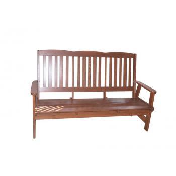 Dřevěná masivní lavice 170 cm, borovicové dřevo- lakované