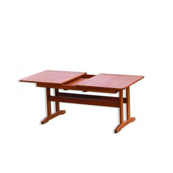 Dřevěný rozkládací stůl 160-210cm, masiv- lakovaná borovice