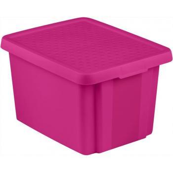 Plastový skladovací box s víkem 26 l, fialový