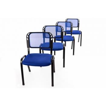 4 ks stohovatelná židle, čekárny / ordinace / konference, modrá