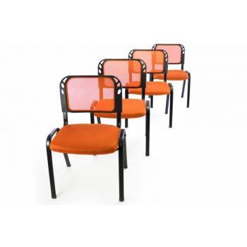 4 ks stohovatelná židle, čekárny / ordinace / konference, oranžová