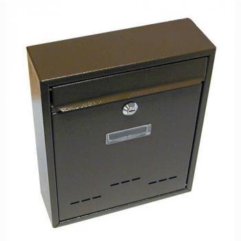 Klasická nástěnná poštovní schránka, uzamykatelná, hnědá