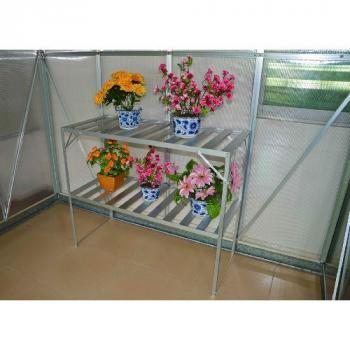 Hliníkový regál / police na květiny 121 x 54 x 76cm