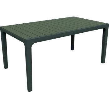 Venkovní plastový jídelní stůl- obdélníkový, horní deska- imitace dřeva