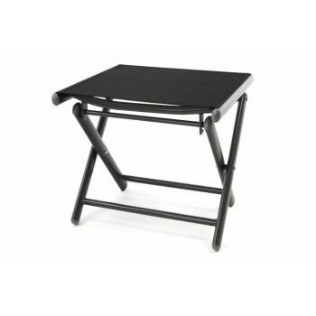 Skládací stolička na sezení / pod nohy, hliník / textil, černá