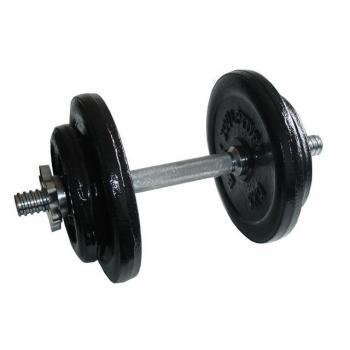 Jednoruční činka s nastavitelnou vahou, kovová, 20 kg