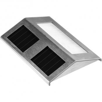Solární osvětlení chodníků a schodů, LED dioda, nerezové tělo