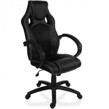 Kancelářská židle ve sportovním designu, EKO kůže, černá