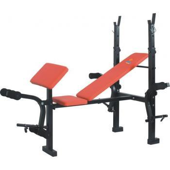 Velká posilovací lavice na bench, nastavitelný úhel, nosnost 180 kg