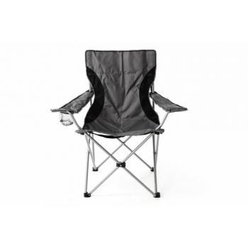 Skládací rybářská židle, textil / kov, šedá