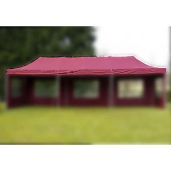 Náhradní střecha pro Profi stany 3x9 m, polyester, vínová