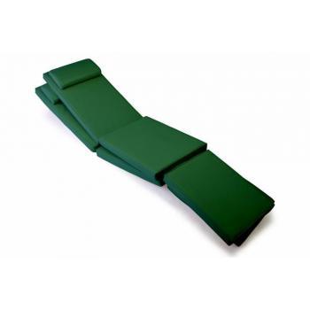 2 ks vysoké polstrování na lehátka, pratelný potah, tmavě zelené
