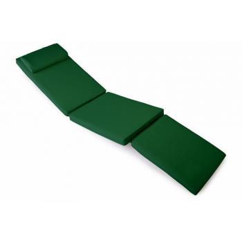 Vysoké polstrování na lehátka, pratelný potah, tmavě zelené