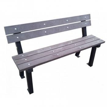 Pevná parková lavice 150 cm, k přišroubování, kov / dřevo