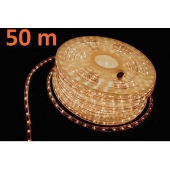 Voděodolný světelný kabel venkovní / vnitřní, bílý, minižárovky, 50 m