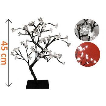 Okrasný umělý stromek se svítícími květy, LED diody, 45 cm