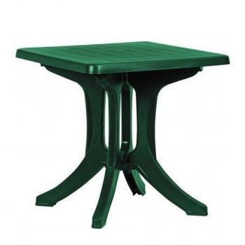 Čtvercový plastový stůl na zahradu / terasu, zelený