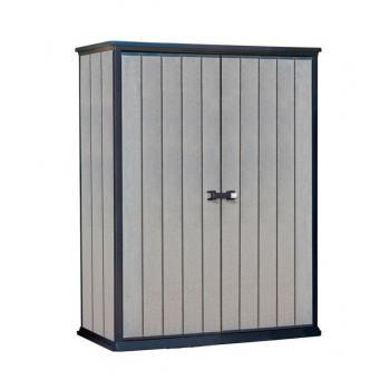 Plastová úložná skříň na nářadí, venkovní, 182 x 140 x 77 cm