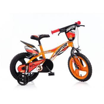 Dětské horské kolo 14 s přídavnými kolečky, oranžové