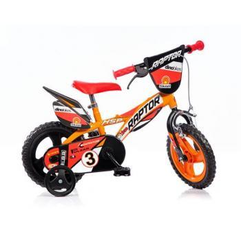 Dětské horské kolo 12 s přídavnými kolečky, oranžové