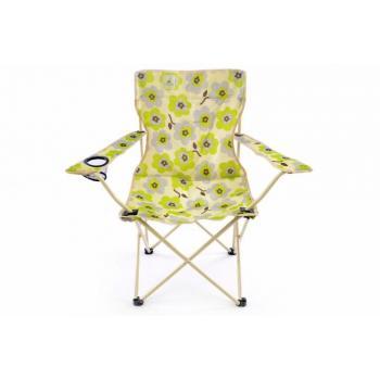 2 ks skládací textilní židle s kovovou kostrou, barevná
