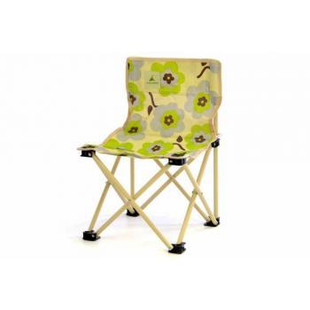 Malá dětská kempinková židle, barevná s květy