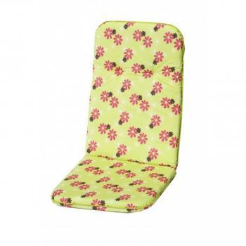 Polstrování na křeslo s vysokým opěradlem, zelená + květy