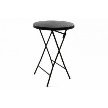Vysoký barový kulatý stolek do interiéru / exteriéru, 110 cm