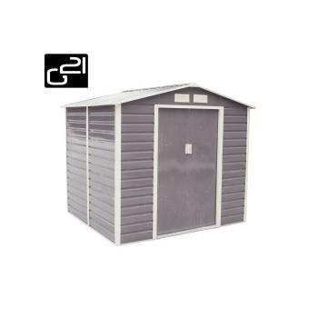Plechový domek na nářadí 213x190x191 cm, šedý