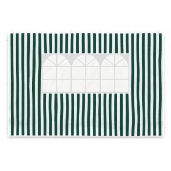 2 ks boční stěna s okny pro párty stany, zelená / bílá