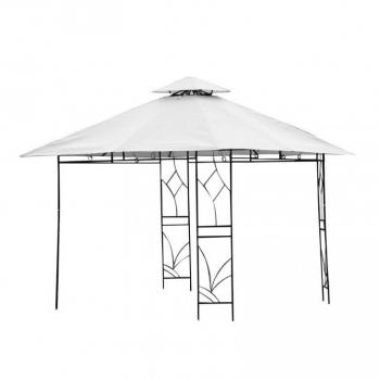 Okrasný zahradní altán 3x3 m, kovová konstrukce