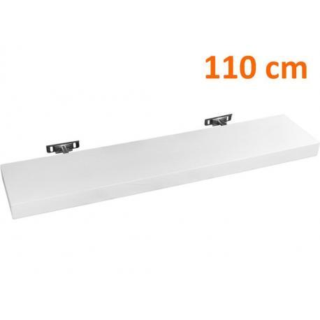 Nástěnná police s levitujícím efektem 110 cm, bílá