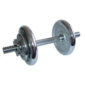 Jednoruční nakládací činka chromovaná, 8,5 kg