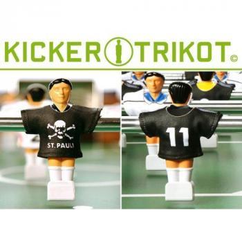 11 ks dresy pro hráče stolního fotbalu, St Pauli, černé
